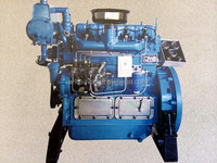 4 cylinder water cooled diesel marine engine, speed boat engine