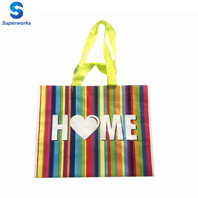 160gsm fancy laminated shopping bag, foldable shopping bag