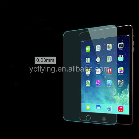 tempered glass film Mobile phone accessory 9H hardness color screen protector for ipad mini 2