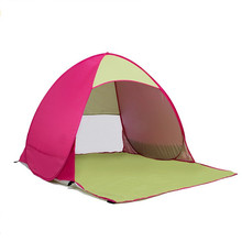 Custom Logo printing Portable Outdoor beach tent one touch camping tent