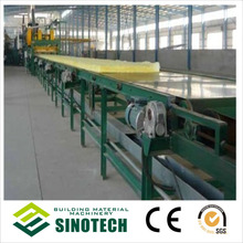 Heat insulation and acoustical glass wool board production line