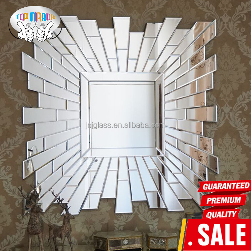 Jingshijie hot sale elegant venetian wall mirror rectangle for Decorative wall mirrors for sale