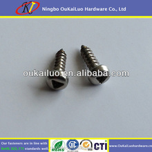 High Quality Stainless Steel Triangle Security Sheet Metal Screw