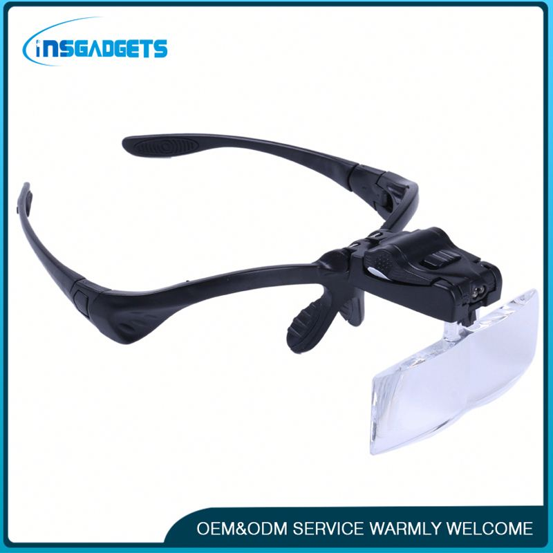 Led lamp light loupe h0tdP eye glasses loupe magnifier for sale