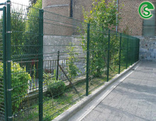 Galvanized steel 3D wire fencing panels see through welded mesh fence for courtyard