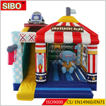 Kids outdoor toys jumping castle inflatable used commercial inflatable bouncers for sale