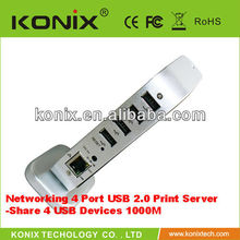 Networking 4 Port USB 2.0 Print Server - how to share a usb printer