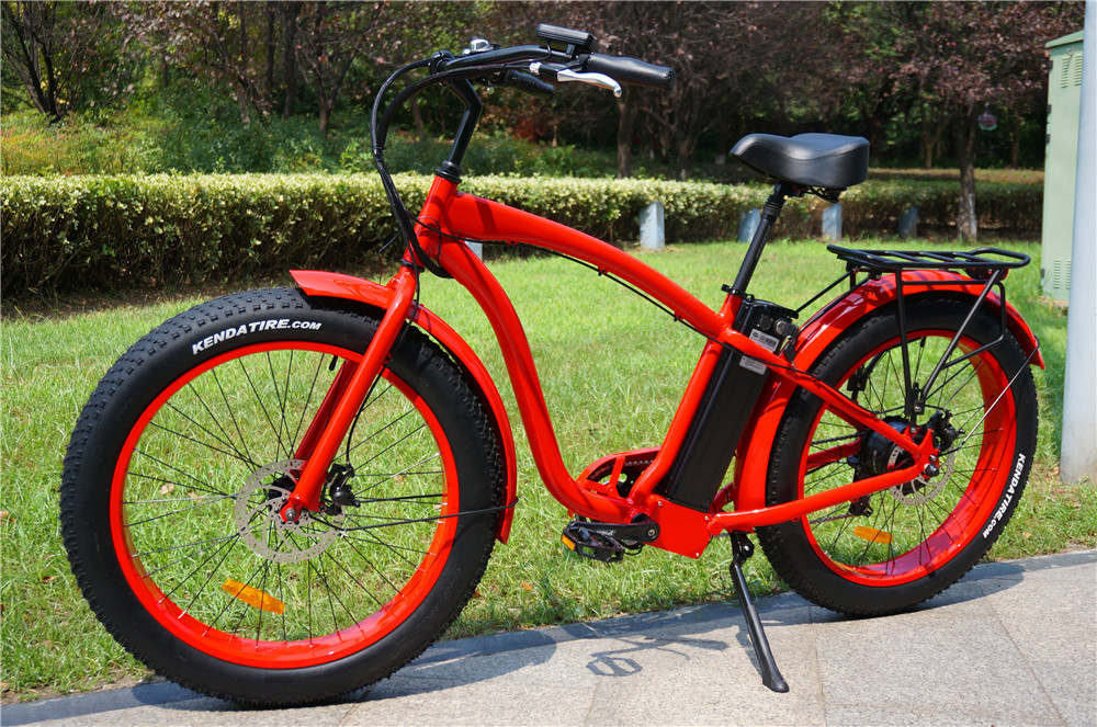26inch High quality snow bike/beach cruiser self charging bicycle electric for wholesales