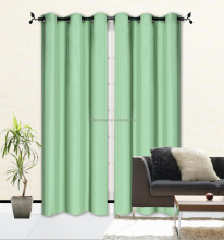 Microfiber Polyester Foam Back Blackout Curtain for Living Room with grommets