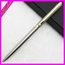 Free sample metal pen for promotion , metal pen clips for free logo , High quality metal twist ball pen slim