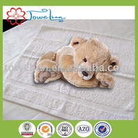 100%cotton full white satin hotel face towel