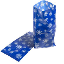 Christmas snowflake cellophane gift bags Cone Sweet Candy Favor Kids Gift Funny Party Bags