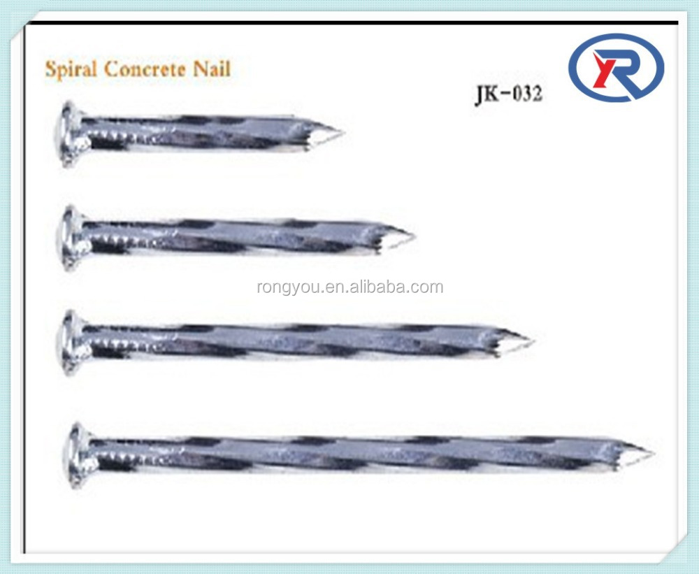 Galvanized Concrete steel Nail With Spiral Shank