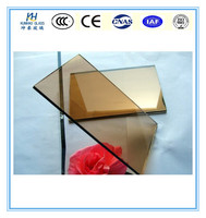 factory tinted auto glass production 4-12mm golden toughened glass