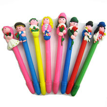 polymer clay wedding favor couples figure pens