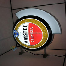 Outdoor Advertising Led Round Lightbox For Bar