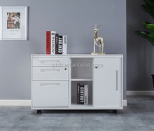 Movable home office furniture low stainless steel cabinet with drawers