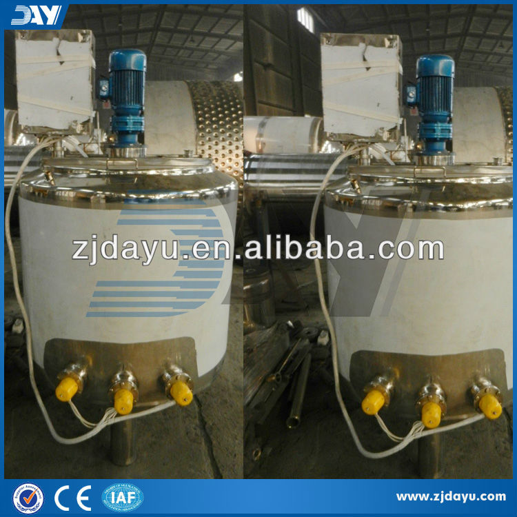 500L stainless steel electric heating hot sale pmc shampoo mixing tank