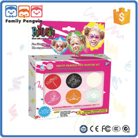 Pretty princess face painting kids make up cosmetics male female body painting
