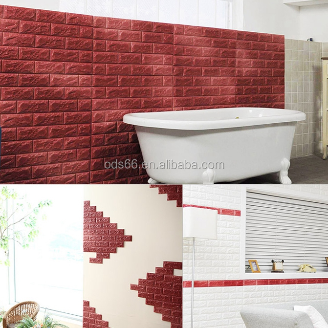 3d imitation brick wall/foam bath stickers