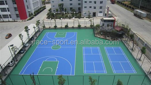 Acrylic basketball/badminton court flooring material