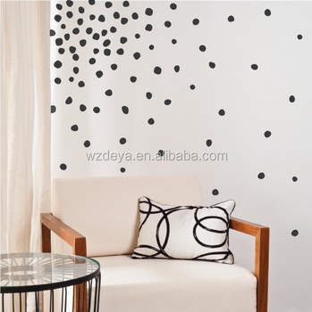2017 New Design Top Quality Gold Dot Wall Sticker
