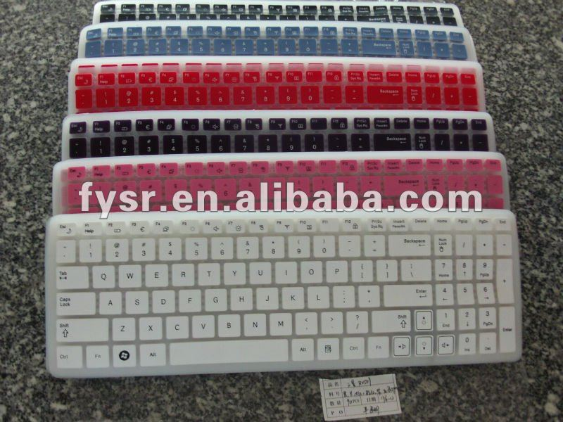 New brand keyboard cover colorful keyboard cover colored rubber laptop keyboard covers