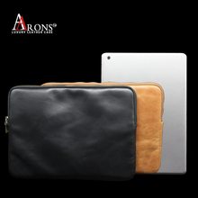 Aaron Brand case high quality premium genuine cowhide leather book pouch for ipad pro