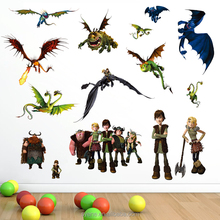 3d cartoon movie How to Train Your Dragon wall stickers for kid room home decor nursery school Dragon wall decal decoration