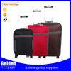Cheap polyester luggage bag wheeled travel trolley luggage suitcase