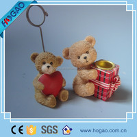 resin decorative hanging teddy bear for christmas decor
