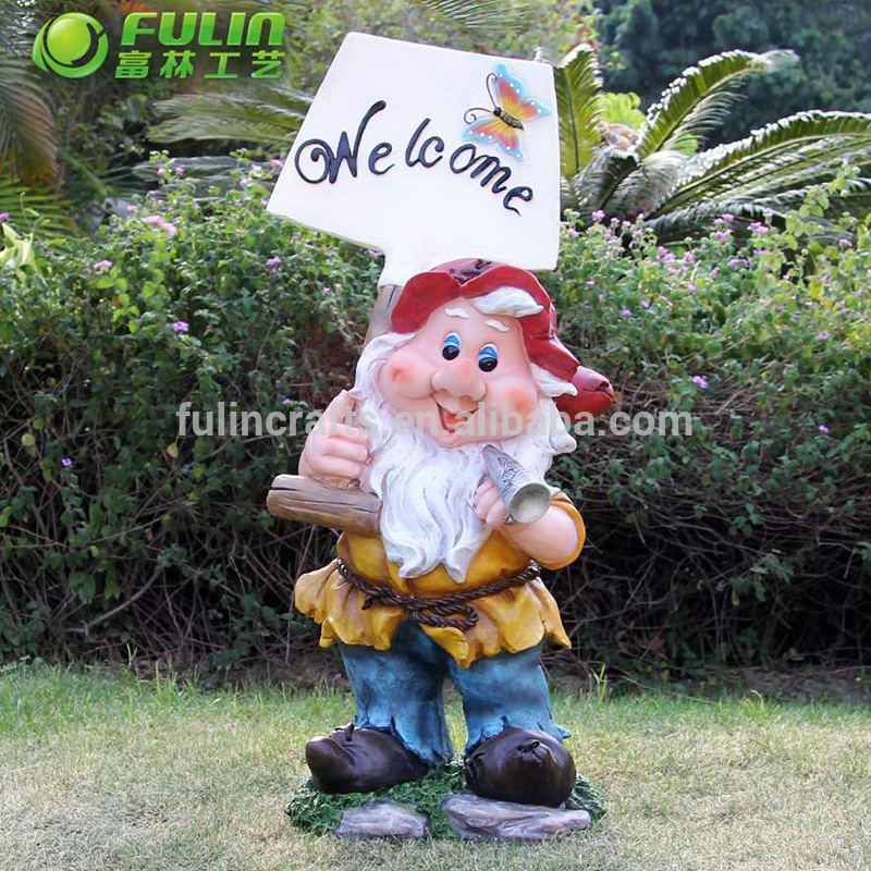 European style american story characters resin miniature gnome garden for sale