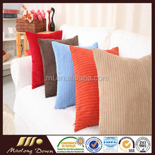 Fashion Polyester Kernel Square Corduroy Cushion Cover Sofa Decorative Pillow Case Corduroy Cushion