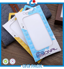 Durable delicate hanging clear plastic pvc pet pp mobile phone case package boxes for smart phone
