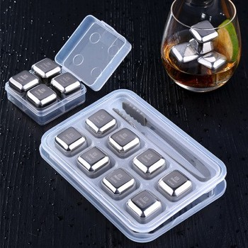 Recyclable Stainless Steel Whiskey Stones Stainless Steel Wine Ice Cubes
