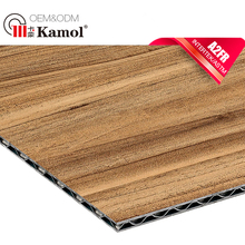 Latest decorative wood wall cladding sheets fire retardant aluminum corrugated core composite panel