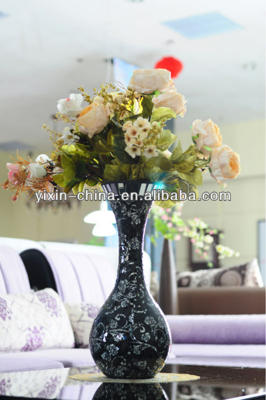 Mosaic glass vases/cheap tall glass vases