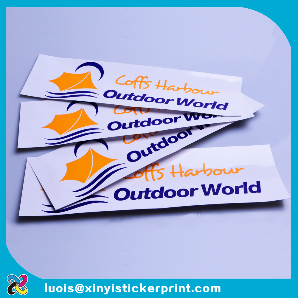 Custom silk screen printing clear PVC water proof UV resistant coffs harbous logo outdoor advertising decal sticker for boat