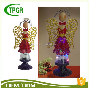 Metal X'Mas Angel Led Night Light Christmas Decorating Metal Craft Decorations
