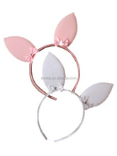 Cute fashion cotton infant bunny ear hair bow headbands stretch baby hair accessories rabbit ear headband for women H5171