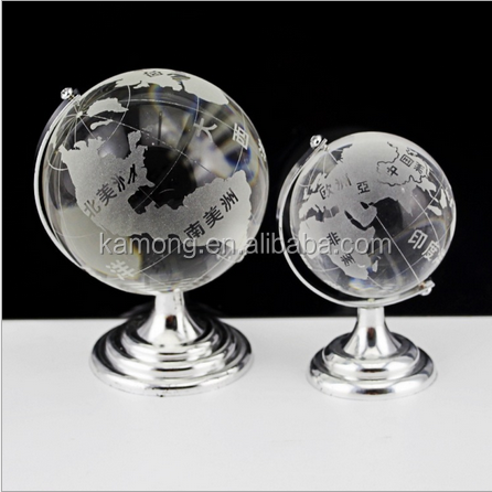 clear crystal glass globe whosale