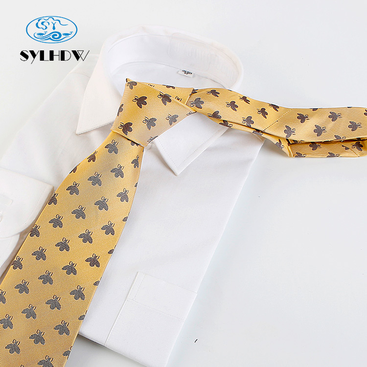 High quality silk male animal <strong>ties</strong> with great honey bee pattern 100% silk