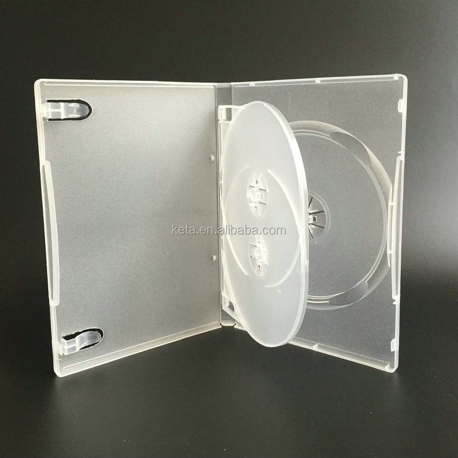 14MM Triple Discs With Tray Frosted Clear Plastic Long DVD Case