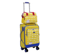 2016 popular Lightweight travel bags/colourful travel trolley luggage bag/Hot sale luggage with a laptop bag/women/children/men/