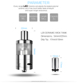electronic cigarette accessories ceramic wick L20 Ceramic Wick Tank vapor cigarette wholesale