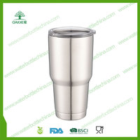 Double wall insulated vacuum stainless steel tumbler 30oz