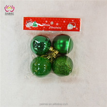 8CM christmas balls ,plastic xmas ball ,hanging christams decoration bauble