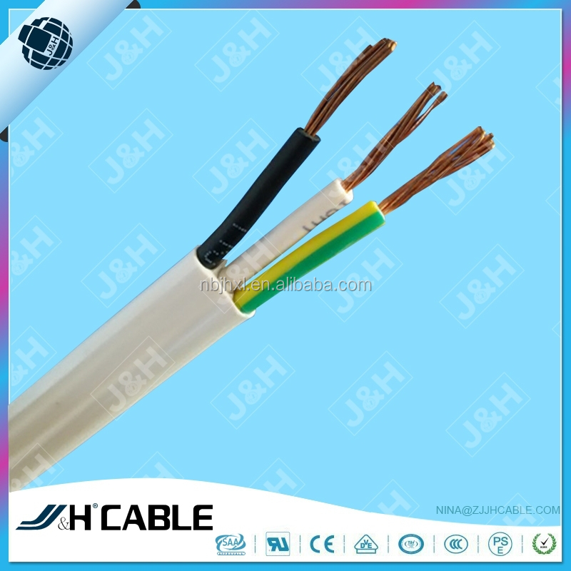 2C+E to Standard AS/NZS 5000.2 for Australia Flat TPS Cable 2*1.5+1.5 PVC wire, 3*2.5mm Flat TPS Cable