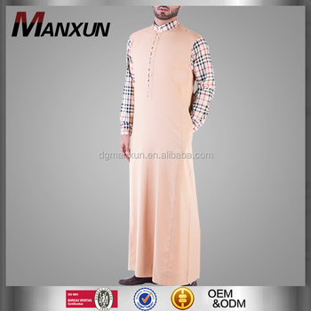 Manufactory Wholesale Islamic Men Clothes Popular Arabic Thobe Classic Moroccan Muslim Abaya Online