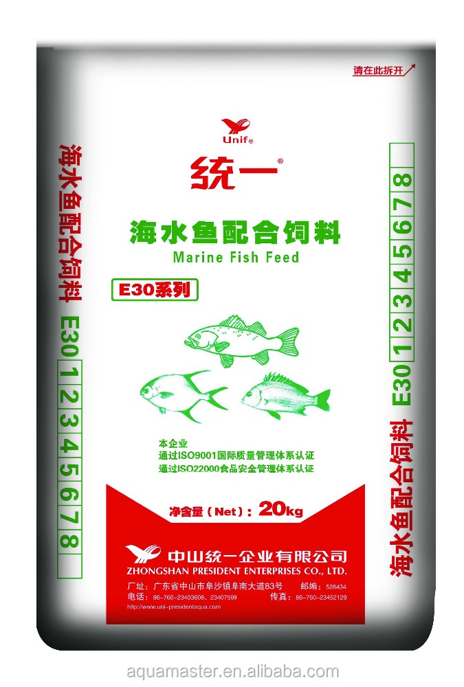 Unif Aquatic Fish Feed, Marine Fish Extruded Floating Feed, 20kg, #1(2.5mm)
